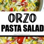 Orzo pasta salad with corn and tomatoes