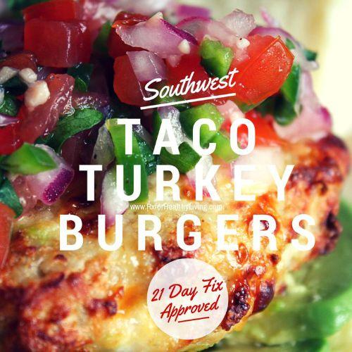 Taco Turkey Burgers with Fresh Salsa