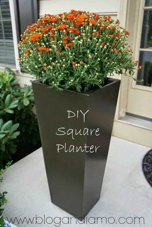 diy square planter