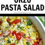 orzo pasta salad recipe with corn and tomatoes