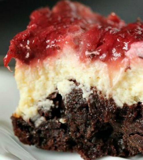 100 Whole Grain Strawberry Cheesecake Brownies