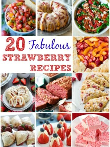 A bunch of different types of Strawberry recipes