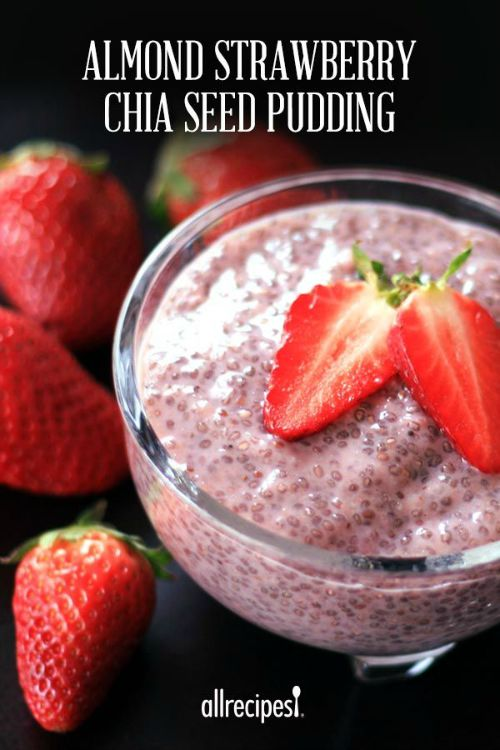 Almond Strawberry Chia Seed Pudding