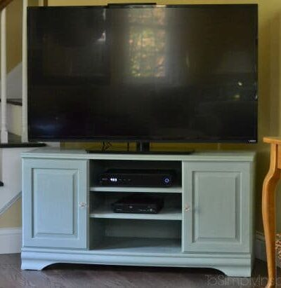 Chalk Paint TV Stand Makeover After