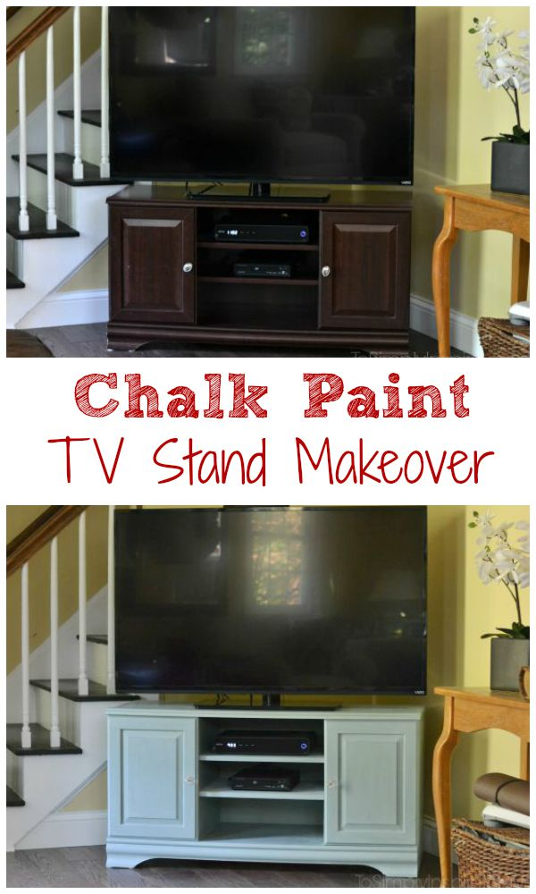 Chalk Paint Tutorial Tv Stand Makeover