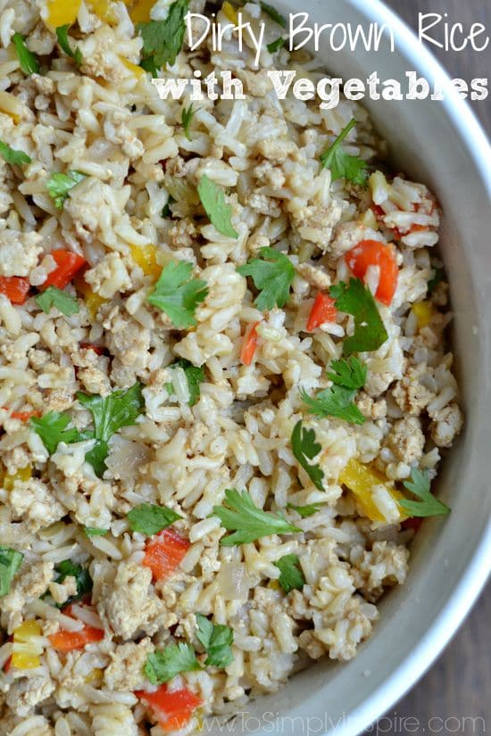 Dirty Brown Rice with Vegetables2