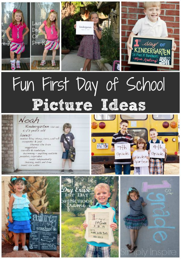 These fun First Day of School Picture Ideas make great memories for your children as they go through each year of school. | www.ToSimplyInspire.com