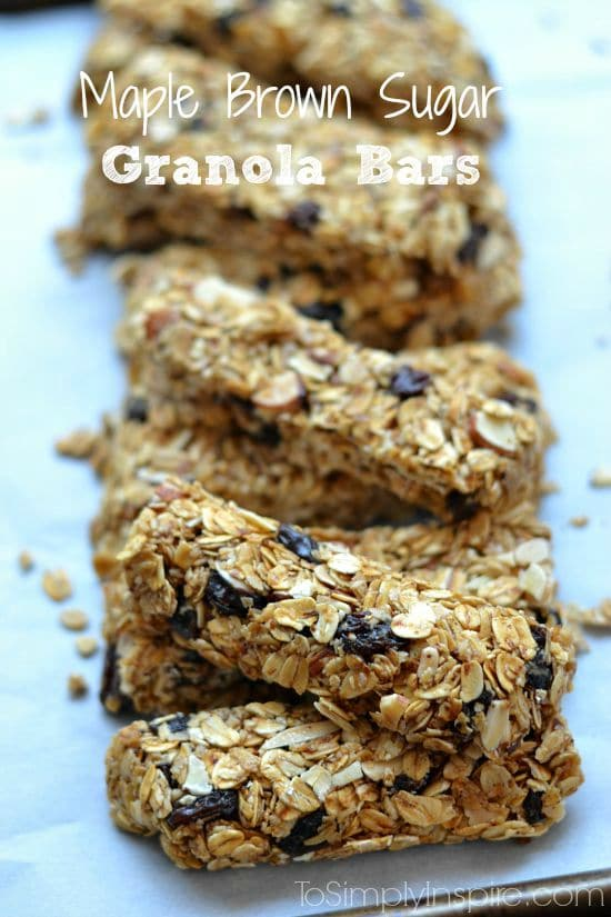 Maple Brown Sugar Granola Bars1-1