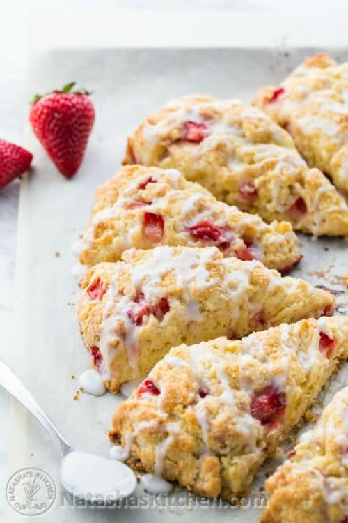 Perfect Strawberry Scones