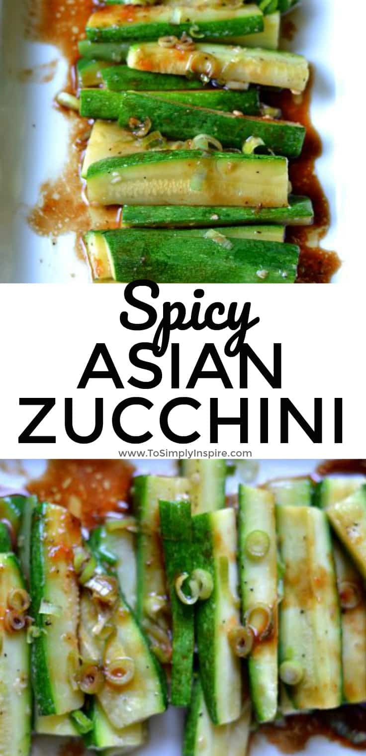 Simple but full of flavor, this Spicy Asian Zucchini is another wonderful, healthy side dish for you to try It's ready in under 10 minutes too!