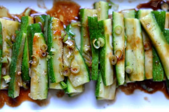 Spicy Asian Zucchini