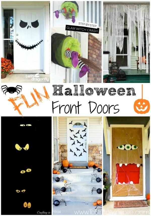 fun halloween front door decorations - Halloween Front Doors