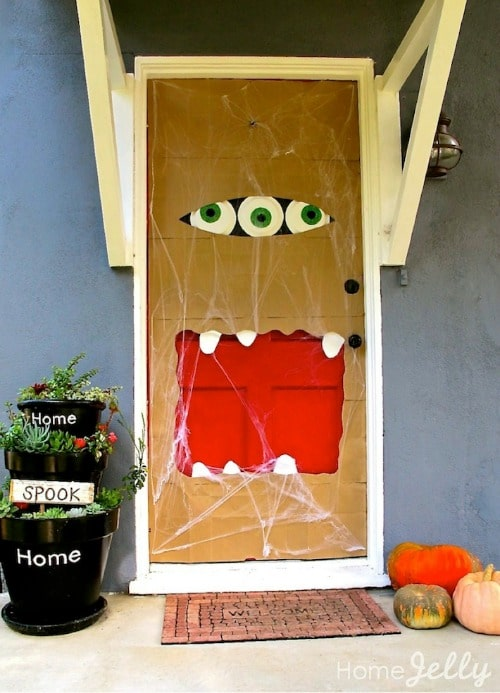 fun halloween front door decorations so many fun ways to to welcome your trick - Front Door Halloween Decorations