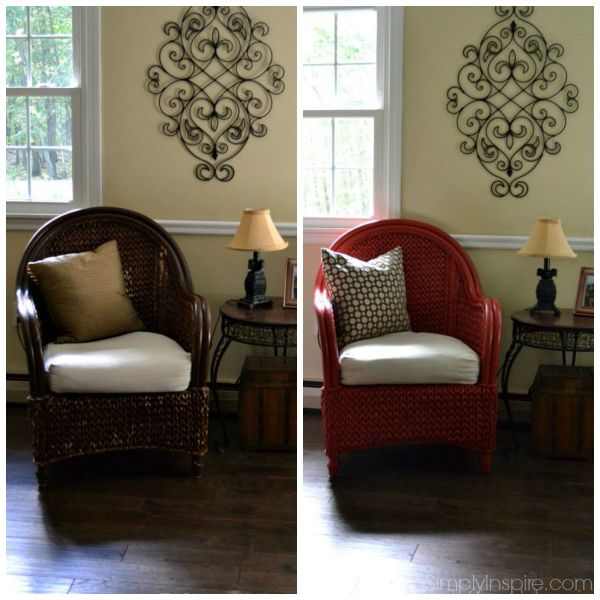 Charmant How To Paint Wicker Furniture With A Brush13