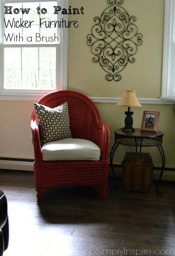 How to Paint Wicker Furniture with a Brush16