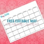 Free Printable Calendar May 2016