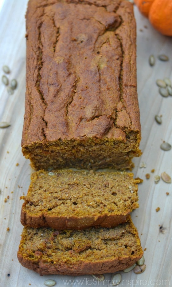 Healthy Gluten Free Pumpkin Bread