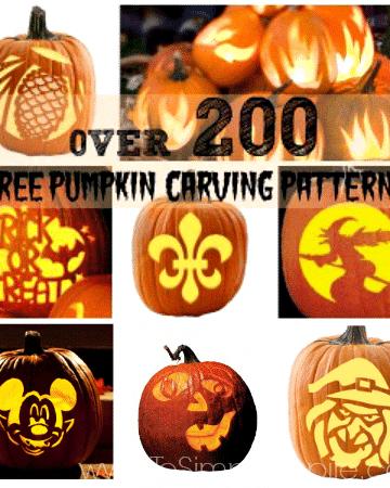 several jack-o -lanterns patterns