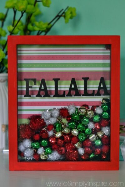 DIY Holiday Shadowbox Frame11