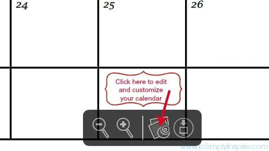 How to Customize Printable Calendar1