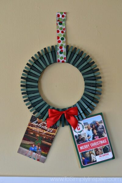 DIY Christmas Card Holder Wreath1