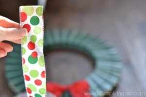a polka dot piece of ribbon