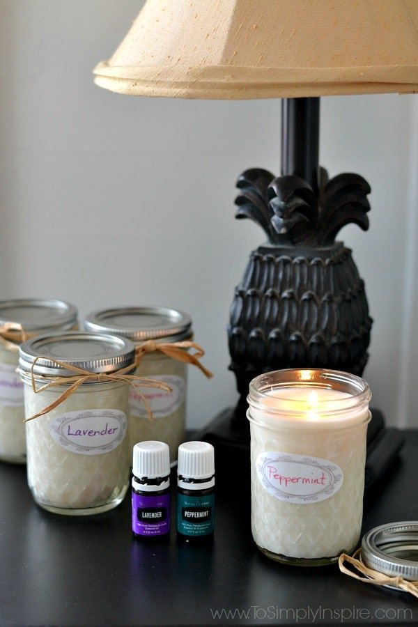Easily make your own homemade soy candles using just 2 simple ingredients – soy wax flakes and the essential oil of your choice.  Enjoy 50% longer burning with soy candles and less toxins in the air.