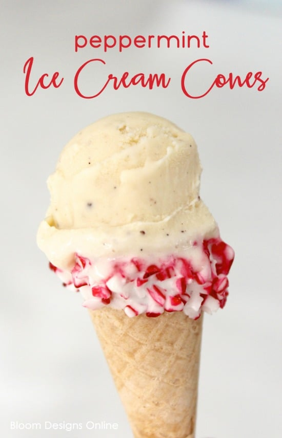 Peppermint Ice Cream Cones