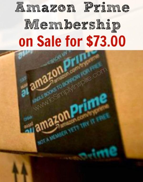 Amazon Prime Membership Sale