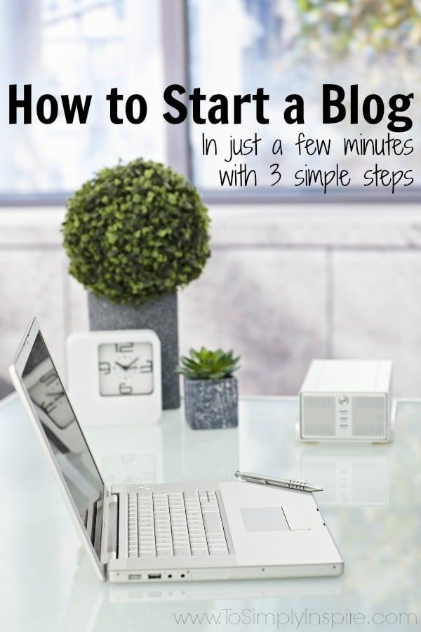 How to Start a Blog - Start your own blog in just a few minutes with these 3 simple steps and tutorial. There's no better time than now to start your own blogging journey.