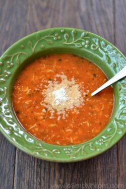 Tomato Basil Chicken Soup