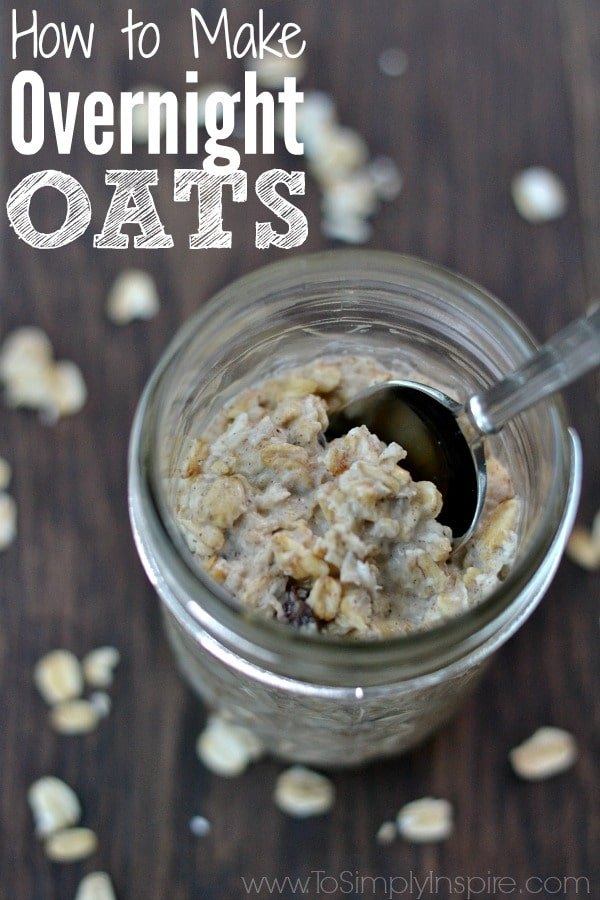 Making creamy, deliciously healthy Overnight Oats is as simple mixing ingredients together and refrigerating overnight for the perfect no hassle breakfast.