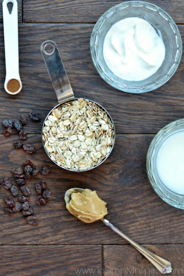 Ingredients for healthy Overnight Oats