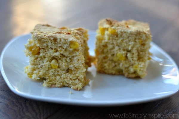 This Simple Gluten Free Sweet Cornbread is a wonderful adaptation of Del Monte's #10MinuteWow recipe. No one would ever guess it's gluten free.