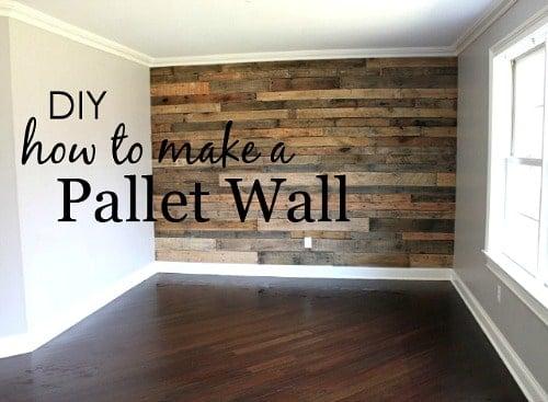 DIY Pallet Wall
