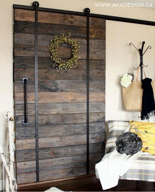 DIY Upcycled Pallet Barn Door