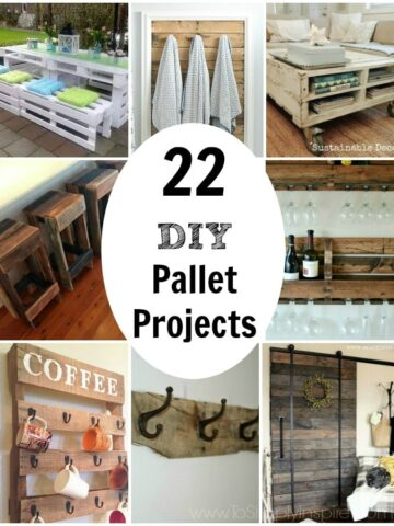 a bunch of different diy Pallet ideas