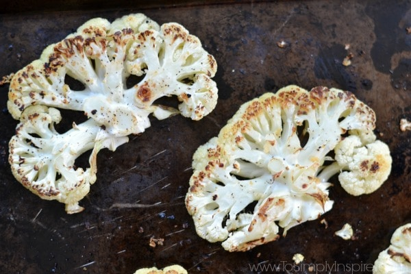 Roasted Cauliflower Steaks are a wonderful way to quickly turn a simple vegetable into an elegant side dish.