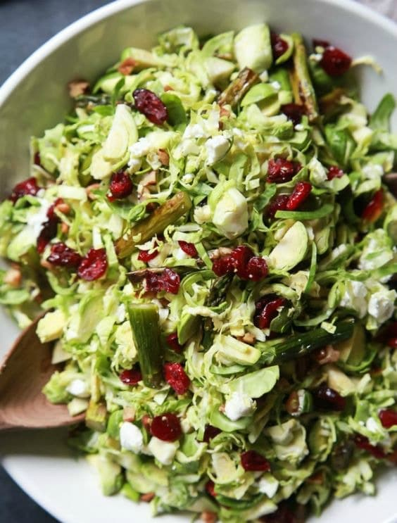 Asparagus & Brussel Sprout Salad with Honey Dijon Dressing from Joyful ...
