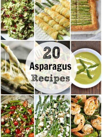 a bunch of different types of asparagus recipes
