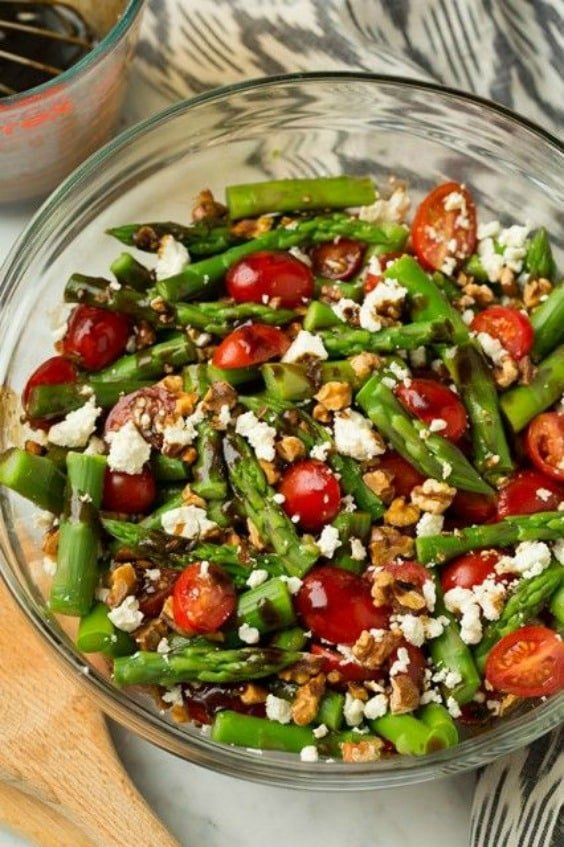Asparagus, Tomato and Feta Salad with Balsamic Vinaigrette from ...