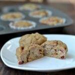Healthy Banana Rhubarb Muffins