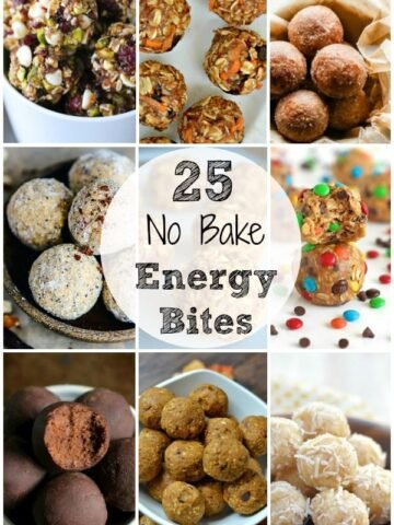 A bunch of different types of no bake energy bites