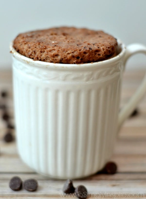 One Minute Protein Brownie in a white mug