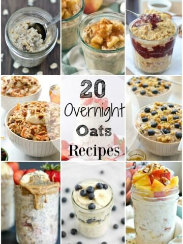 A collage of different overnight Oats recipes