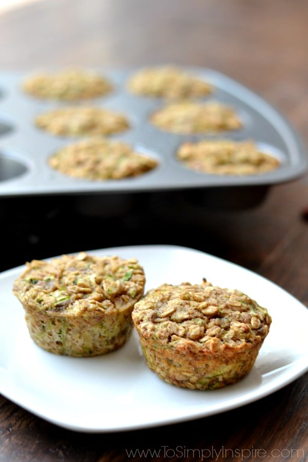 These Zucchini Banana Oatmeal Muffins are an incredible, healthy breakfast. Made with no refined sugar, oil or flour, they are wonderfully moist and perfect for on the go.