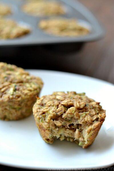 Zucchini Banana Oatmeal Muffins