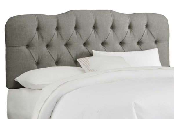 Davidson Tufted Headboard, Gray Linen