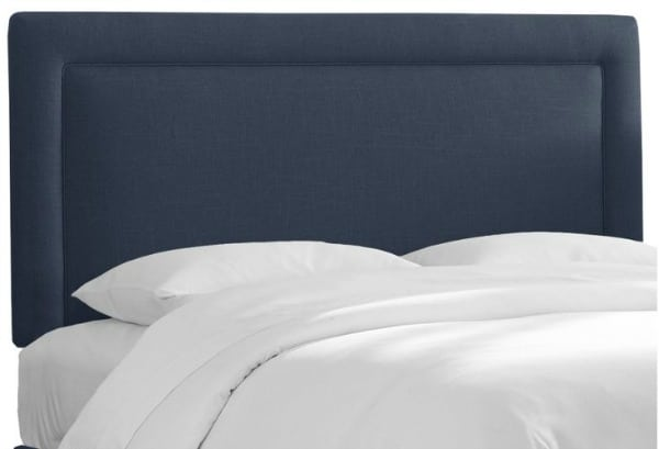 Navy Collins Headboard, Queen