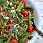 Spinach, Asparagus, Tomato Salad with Balsamic Vinaigrette